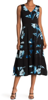 Taylor Floral Jersey Banded Dress