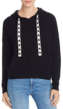 Aqua Cashmere Star-Drawstring Hooded Cashmere Sweater - 100% Exclusive
