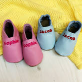 N. Born Bespoke Personalised Mix 'N' Match Leather Baby Shoes