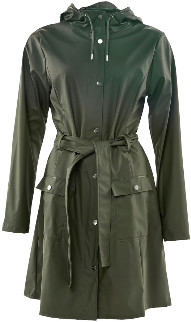 Rains Curve Jacket - Green - Size S/M (UK 12-14)