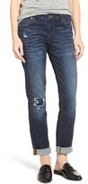 KUT from the Kloth Women's Catherine Distressed & Patched Boyfriend Jeans