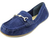 Isaac Mizrahi Annie Women Moc Toe Suede Blue Loafer.