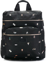 Paul Smith cufflink print backpack - men - Nylon/Polyacrylic - One Size
