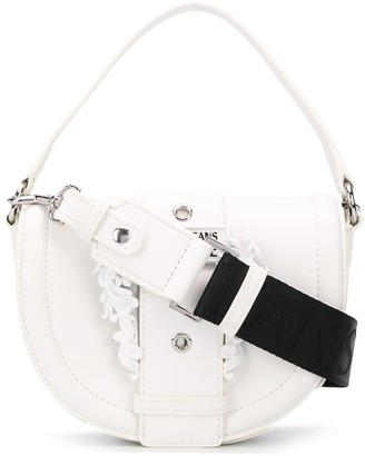 Versace Buckle-Flap Mini Shoulder Bag
