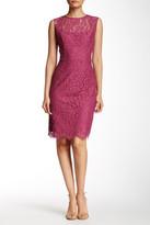 Alexia Admor Sleeveless Bow Back Lace Sheath Dress