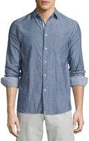 Rag & Bone Beach Tonal-Stripe Sport Shirt, Navy