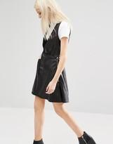 Cheap Monday Leather Look Deep V Neck Dress