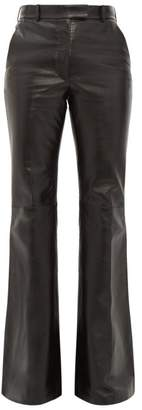 Joseph Valmy Leather Flared Trousers - Womens - Black