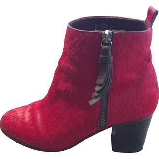 Opening Ceremony Red Pony-style calfskin Ankle boots