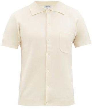 ODYSSEE Giraud Patch-pocket Cotton-jersey Shirt - Cream Multi