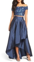 Adrianna Papell Women's Two-Piece Ballgown