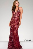 Jovani Fitted Lace Prom Dress 40118