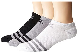 adidas Originals Roller No Show Sock 3-Pack (White/Black/Heather Grey) Men's No Show Socks Shoes
