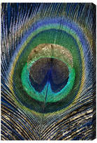 Oliver Gal Feather Touch Blue Canvas Print,