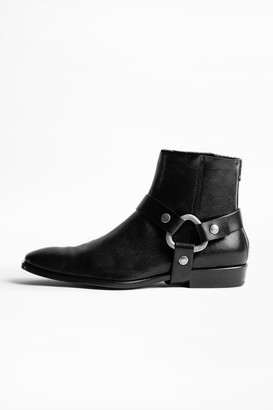 Zadig & Voltaire Romare Belt ankle boots