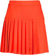 McQ by Alexander McQueen Pleated crepe mini skirt