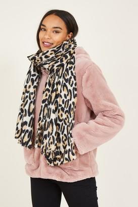 Yumi Leopard Woven Scarf