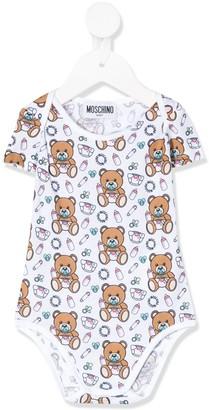 MOSCHINO BAMBINO Logo Bear Print Babygrow