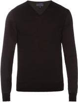 Lanvin V-neck long-sleeved wool sweater