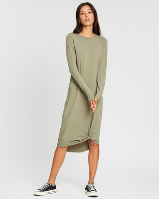 Silent Theory Long Sleeve Twisted Maxi Dress