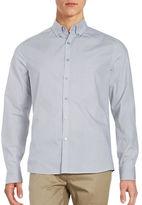 Kenneth Cole New York Diagonal Print Cotton Shirt