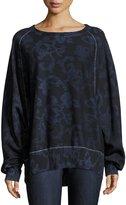 Rag & Bone Max Printed Pullover Sweatshirt, Indigo