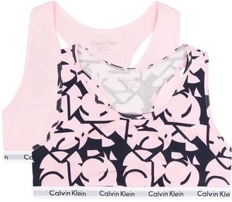 Calvin Klein Kids TEEN three-pack logo bralette