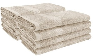 Superior 100-Percent Cotton Eco-Friendly 8-Piece Towel Set - Silver