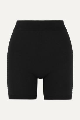 Bodhi Nagnata - Net Sustain Technical-knit Organic Cotton-blend Shorts - Black
