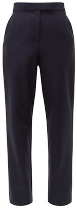 Christopher Kane Tailored Twill Trousers - Womens - Navy