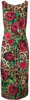 Dolce & Gabbana leopard floral dress