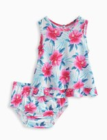 Splendid Baby Girl Print Dress and Bloomer