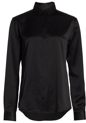 Saint Laurent Silk Button-Down Shirt