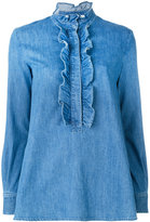 Stella McCartney denim Camicia blouse - women - Cotton/Spandex/Elastane - 38