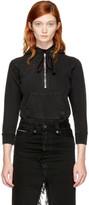 Unravel Black Terry Zip Hoodie Bodysuit