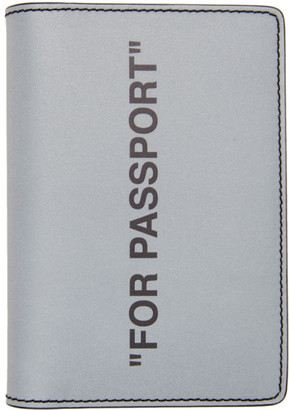 Off-White Off White Silver Quote Passport Holder
