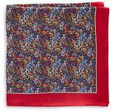 Black Brown 1826 Floral Silk Pocket Square