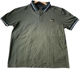 Prada Khaki Cotton Polo shirts