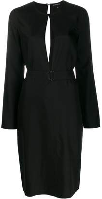 Ann Demeulemeester key-hole midi dress