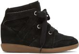 Isabel Marant Black Bobby Wedge Sneakers