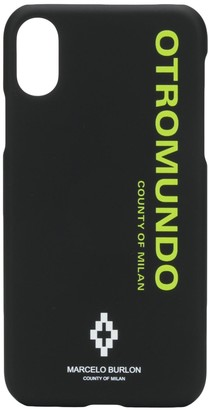 Marcelo Burlon County of Milan Otromundo iPhone XS case
