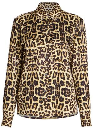 Dries Van Noten Leopard-Print Blouse