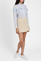 Paul & Joe Sister Plaid Tweed Mini Skirt