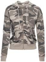 Splendid Camo Zip Hoodie Sweater