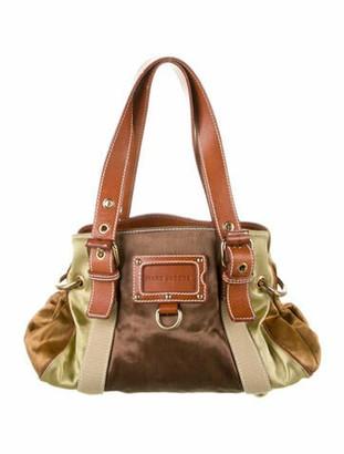 Marc Jacobs Leather-Trimmed Shoulder Bag Brown