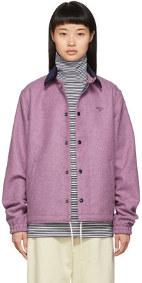 Noah NYC Pink Wool Short Coach Jacket