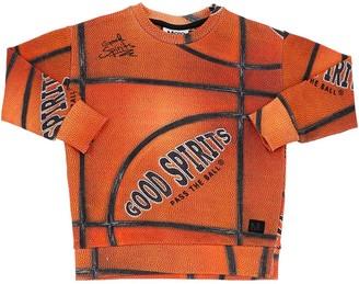 Molo Basketball Print Cotton Sweatshirt
