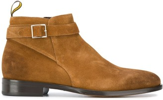 Doucal's Buckle-Detail Ankle Boots