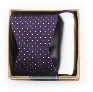 The Tie Bar Eggplant Bow Tie Box