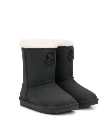 Moncler Enfant Logo Patch Boots